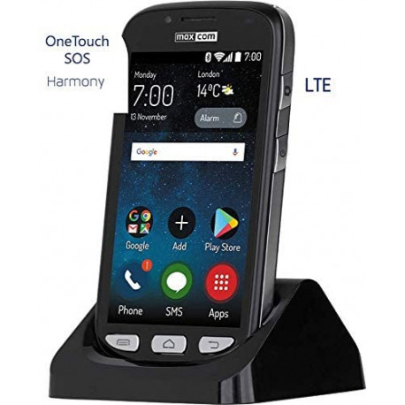 ONETOUCH SOS Harmony SMARTPHONE/ANDROID/8MP/2MP-KAMERA/FERNSTEUERUNG von G-TELWARE®!